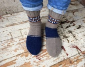 Hand knit natural home, outwear, shoes men wool socks