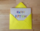 Birthday card single