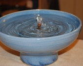 "Ceramic Pet Fountain, Cat Fountain Food safe, Handmade -""Cyanea""- 10.5 Inch Diameter"