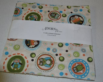 Adornit Life's a Hoot Collection Stack Pack (layer cake) 42 -10 x 10 squares