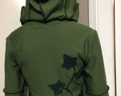 Ivy leaf hug moss green bamboo Faye Tality couture