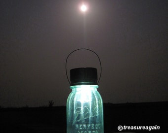 Moonlight Mason Jar Lantern Outdoor Light Solar Mason Jar