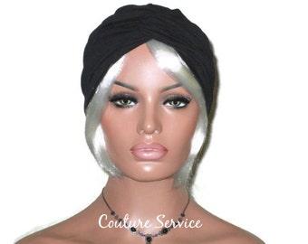Black Turban, Black Cotton Lycra Turban, Black Women's Turban, Black Handmade Turban, Black Fashion Turban, Black Twist Turban, Black Turbin
