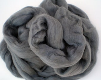 "Ashland Bay Solid Colored Merino for Spinning or Felting ""Silver""  4 oz."