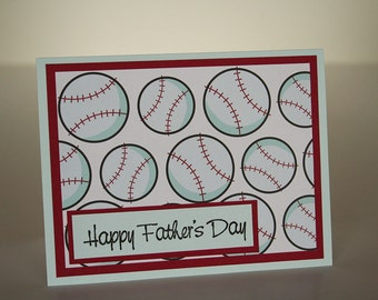 Father's Day Card- Baseballs