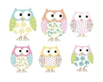 Childrens Vinyl Decal Owls Decal Sticker Girl Baby