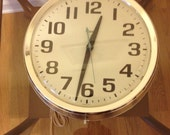 Mid Century Timex Wall Clock TAKES A LICKING and keeps on ticking at Modern Logic