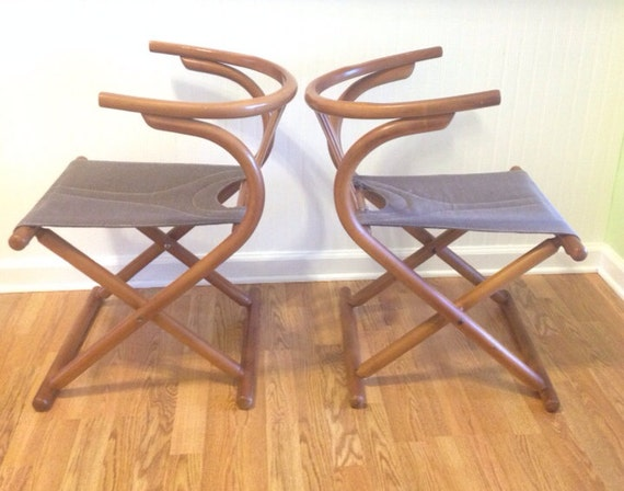 Mid Century Modern Bentwood Folding Chairs Made in by modernlogic