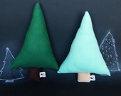 Plush Trees in Mint & Pine