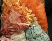 SURPRISE bag with assorted pleated and ruffled novelty trims