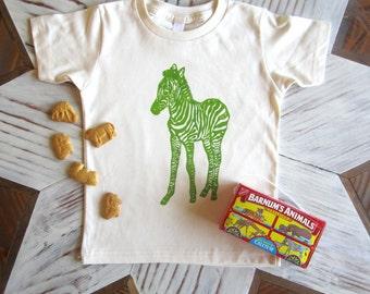 Kids Tshirt - Organic Cotton Toddler Shirt - American Apparel Kids Shirt - Screenprint Tshirt - Zebra - Toddler Tee - Kids Clothes - Circus