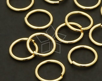BS-111-GD / 10 Grams - 10mm Outside Diameter Extra Large Jump Rings, 16K Gold Plated / 18 Gauge(1mm)