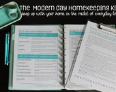 HOMEKEEPING - The Clean Mama MODERN DAY Homekeeping Kit- 14 documents - Instant Download
