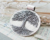 Personalized Fine Silver Tree of Life Pendant, SilverWishes Handmade Original, Recycled Silver