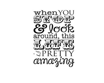Vinyl Wall Decal when you stop and look around, this life is pretty amazing