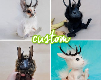 CUSTOM Jackalope Mixed Media Plush