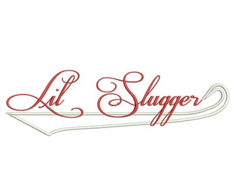Slugger - Baseball Applique - Machine Embroidery Design - 3 sizes