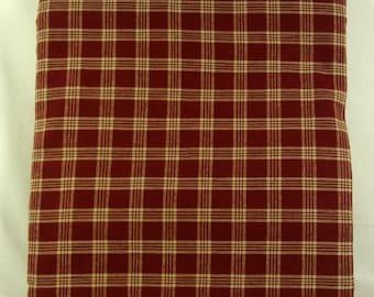 2 Yards Primitive Barn Red Huntington Homespun Fabric -