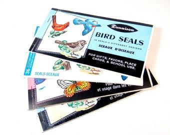 Bird & Butterfly Seals - 63 Count