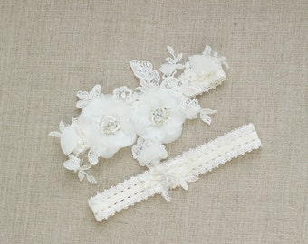 Bridal garter, Wedding garter, Bridal Garter set, Lace Garter, Wedding garter set, lace wedding garter, Lace garter set,  Floral garter