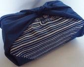 Japanese Blue Very old Fabric Furoshiki.100% Eco Friendly.40s.n7