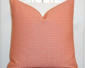 Decorative Pillow Cover  - Coral/Orange  - Trellis Pillow - Lattice - Geometric - Sofa Pillow - cushion Cover - Modern Design
