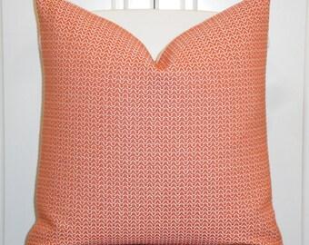 Decorative Pillow Cover  - Coral/Orange  - Trellis Pillow - Lattice - Geometric - Sofa Pillow - cushion Cover - Modern Design