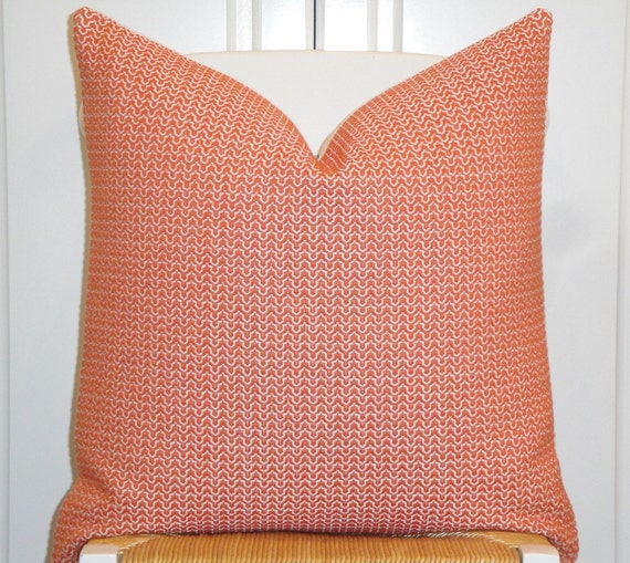 Decorative Pillow Cover Coral/Orange Trellis Pillow