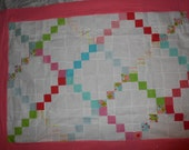 SHOP CLOSING SALE - Quilt Top and Back for a Baby Girl or a Lap Quilt