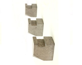 SALE: Modern Concrete Hook -  set of 3