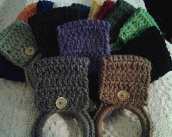 Crochet towel holders (set of 3)