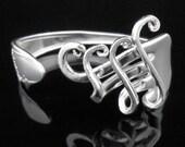 Fork Bracelet, Silverware Jewelry in Fancy Design Number Four