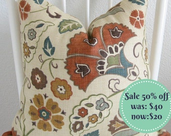 SALE - 50% off - Richloom favell in Jewel - decorative pillow cover
