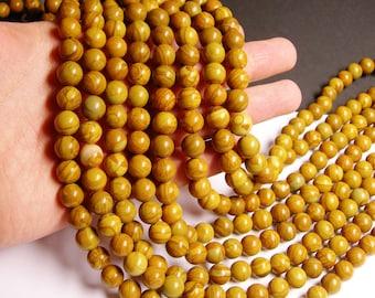 Wood Jasper - 10 mm round beads -1 full strand - 40 beads - RFG1152