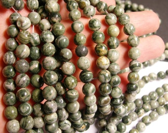 423054008 Round Beads 4.4 mm Tiger Iron Round 4mm 16 Inch,