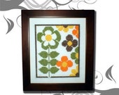 PDF E pattern emailed GROOVY Retro Daisy Cross Stitch Pattern Sampler Chart Design 5 *