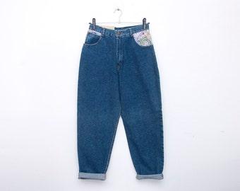 NOS Vintage 90 blue jeans high waist size M
