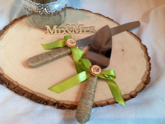 wedding cake serving set personalized wedding cake server set personalized rustic wedding cake 24304