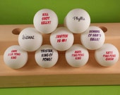 Personalized Ping Pong Balls with Multiple Names