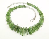 Green Kyanite & Sterling Silver Necklace - N729