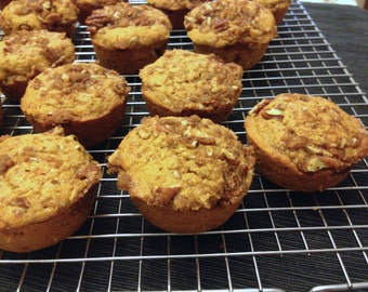 Recipe for Fall Seasonal Farm to Table Muffins Pumpkin Streusel Topped Muffin Recipe