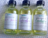 All Natural Moisturizing Body and Bath Oil Gift Set - Set of 3