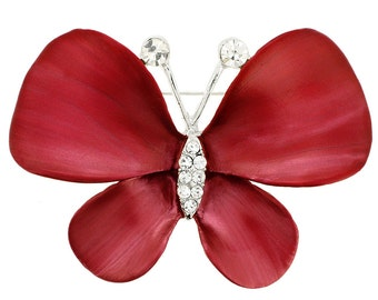 Red Butterfly Pin Brooch 1003801