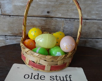 Vintage Easter Woven Basket Sweet an Smaller Shabby Chic