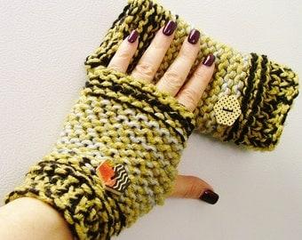 Log Cabin Fingerless Gloves