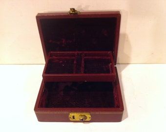 Maroon Jewelry Box