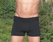 Reserved Costom pair for Ugene 2nd pair of green Mens bamboo Bootie Shorts/ yoga shorts/ underwear