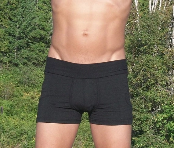 Mens Bamboo Bootie Shorts/ Yoga Shorts/ Underwear
