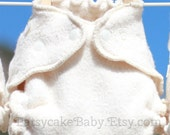 Small Organic Cotton Sherpa Fitted Cloth Diaper