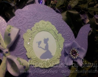 Listing for B. Sassy:  Boutique Custom Princess and the Frog/Tiana Tea Party  Invitations Set of 12